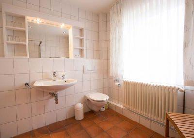 Das Bad von Wohnung 1 im Nordlicht Amrum