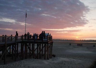 Sonnenuntergang am Strand auf Amrum