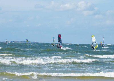 Windsurfen im Meer auf Amrum