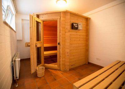 Die Sauna im Haus Nordlicht