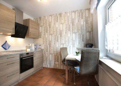 Die Küche von Wohnung 3 im Nordlicht Amrum