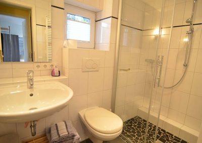 Das Bad von Wohnung 4 im Nordlicht Amrum